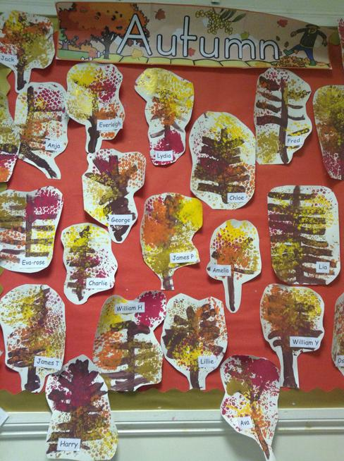 Chestnuts Autumn trees