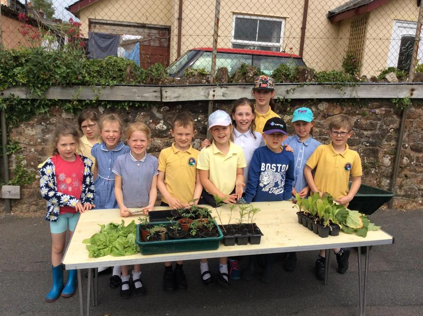 Selling Gardening club produce