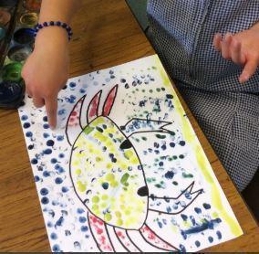 YR Finger print dotty art