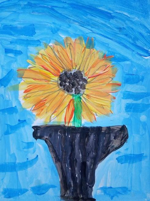 Inspired by Van Gogh's Sunflowers