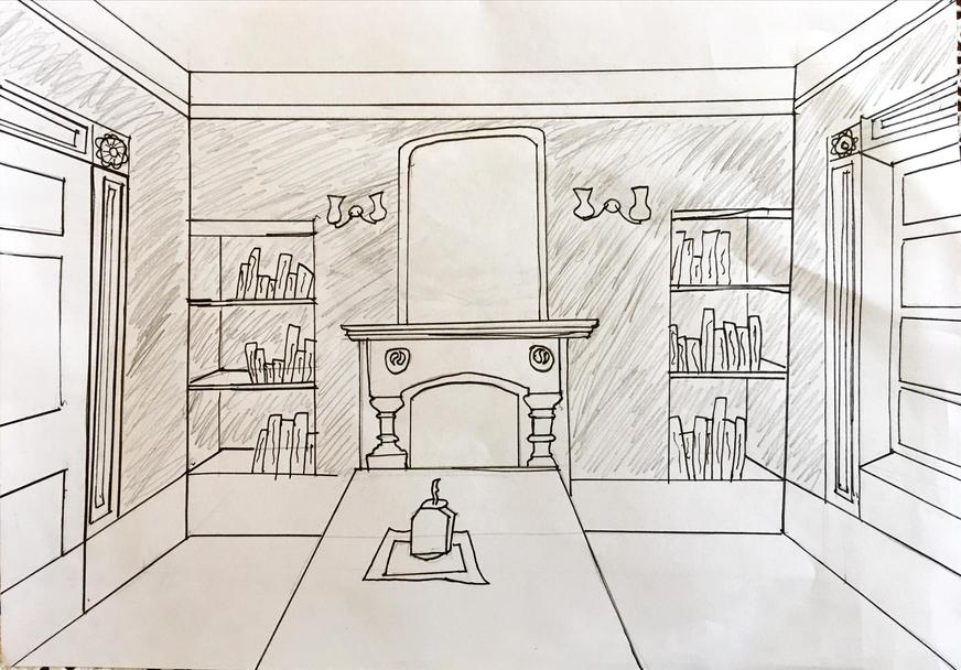 By Daniel. Perspective drawing.