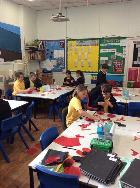 Paper craft poppies