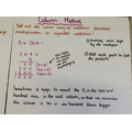 Multiplication using a written columnar method y4