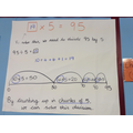 Division using chunking on a number line (y3)