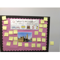 Our new challenge board: create maths questions!