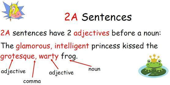 An expanded noun phrase is sometimes called a 2A sentence