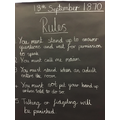 We had to follow a strict set of rules!