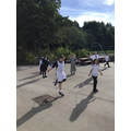 Girls enjoyed skipping.