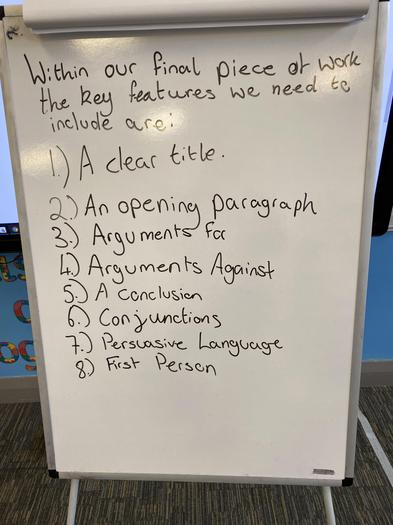 Our Checklist of Key Features we Created in Class