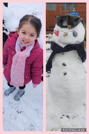 Poppy having fun in the snow!