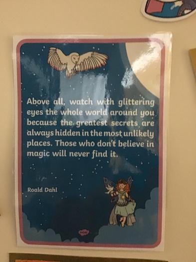 A  Roal Dahl quote.
