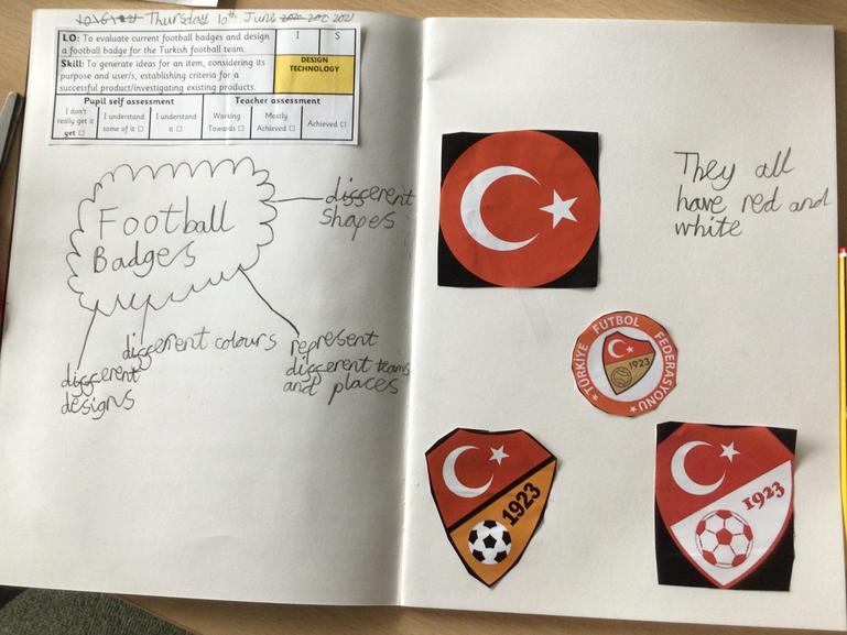 Designing  our own Turkish Badge