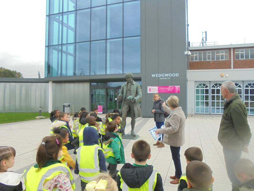 Arriving at World of Wedgwood.