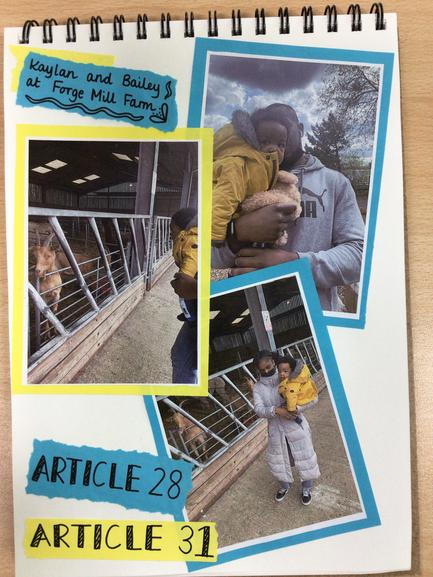 Miss Rowaiye chose the same articles and took Bailey to the farm this time.