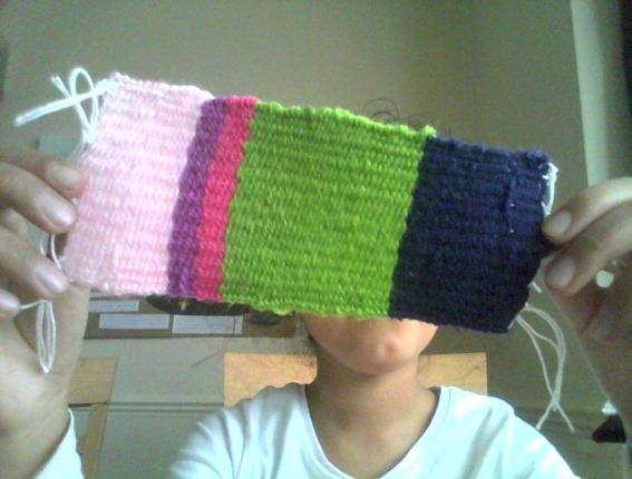 Isha's completed weaving