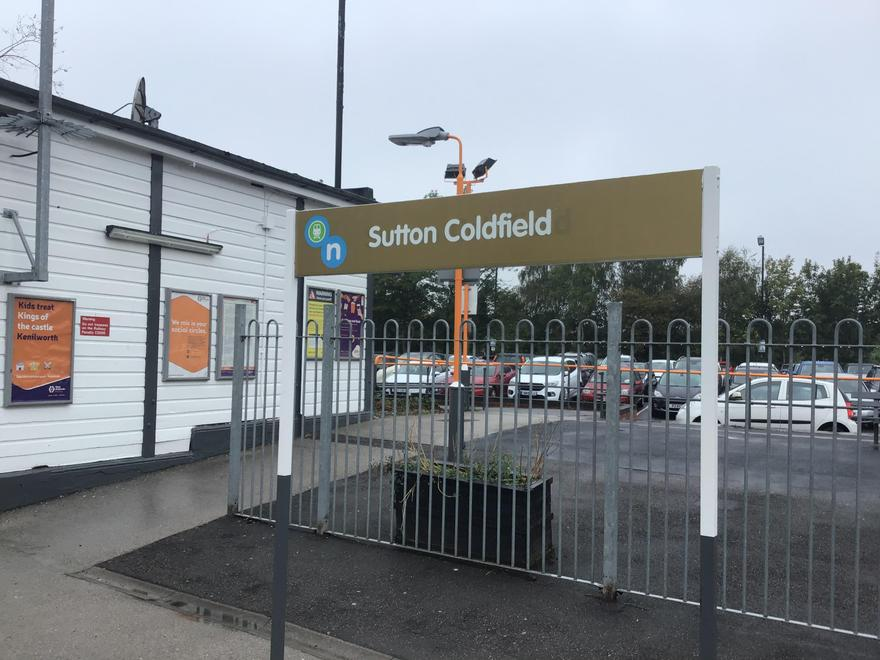Arriving at Sutton Coldfield Station