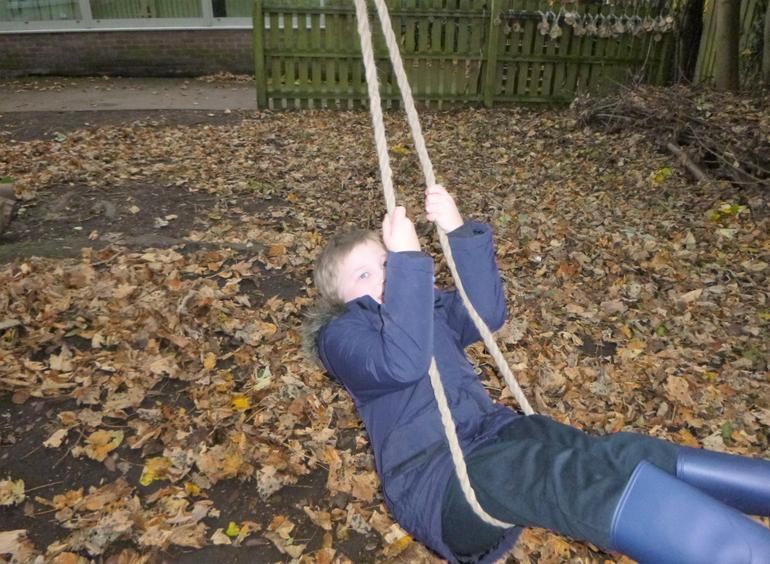 I can swing and get strong