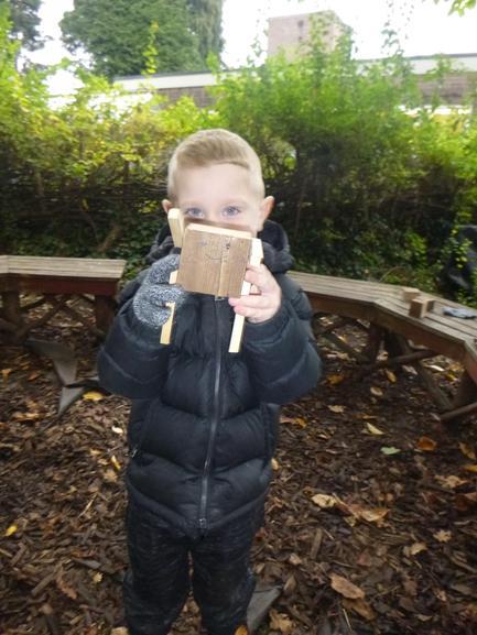 I made a wooden man