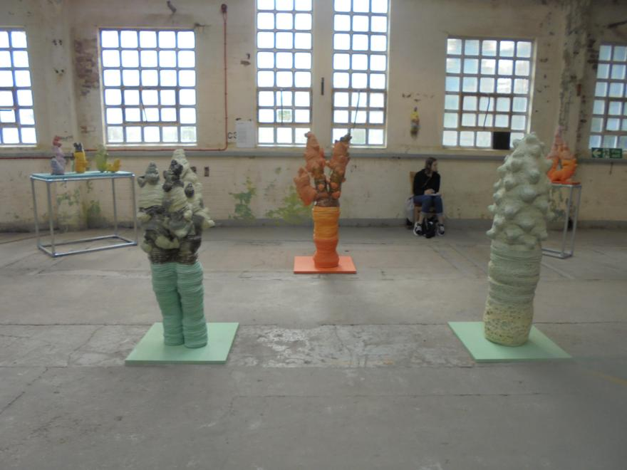 Sculptures at the exhibition.