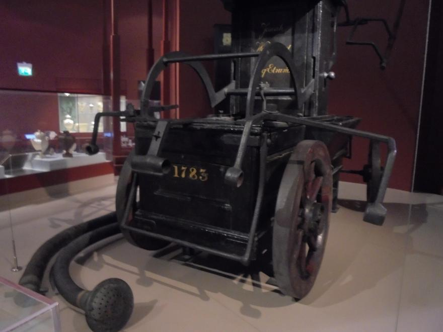 An old fire engine that was used in the factory.