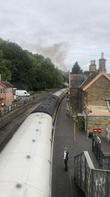 The steam train as it departed!