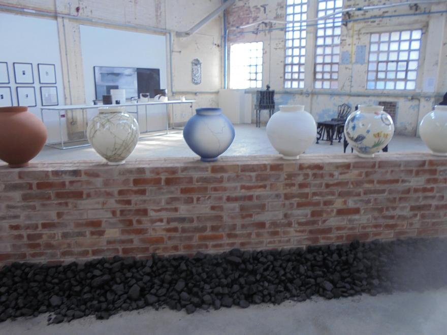 Pottery at the exhibition.