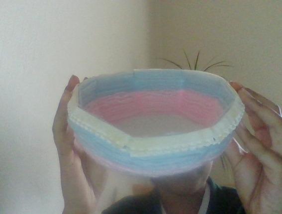 Isha took her skills further and weaved a bowl. Amazing Isha