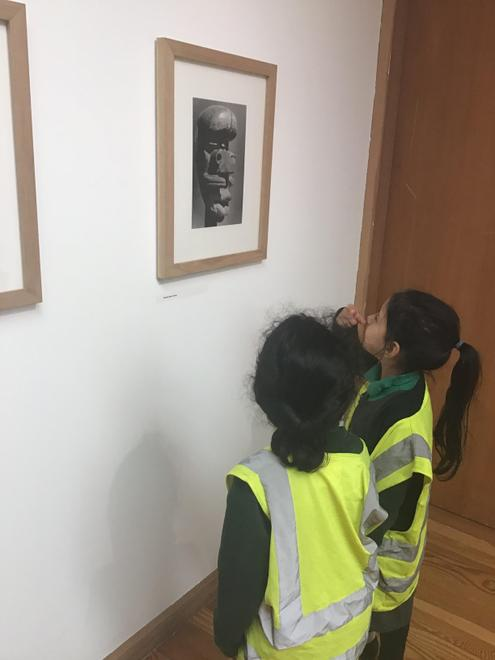 The children loved viewing the artwork displayed.