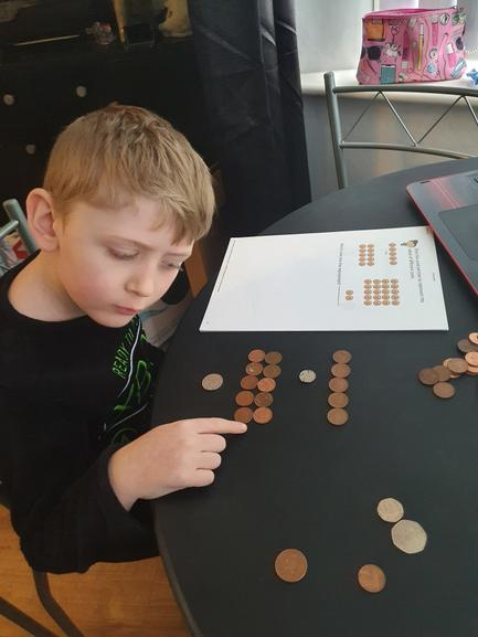 Super learning Arron . Love the concentration on your face while counting .