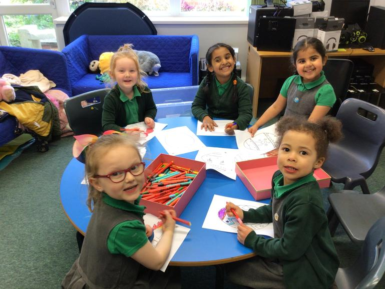 We made unicorn pictures