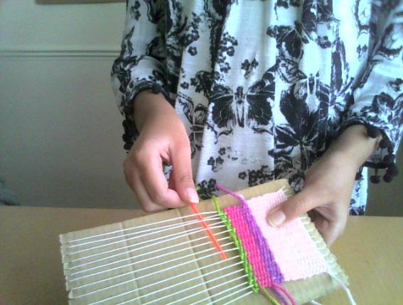 Isha's amazing weaving .