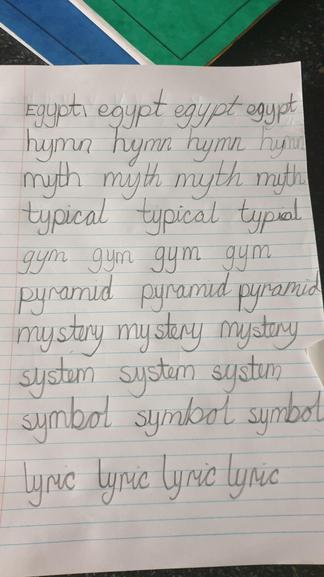 Aleeha's Handwriting