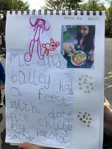 Maria also made sure Bailey ate healthily just like Mrs Maksymczuk!