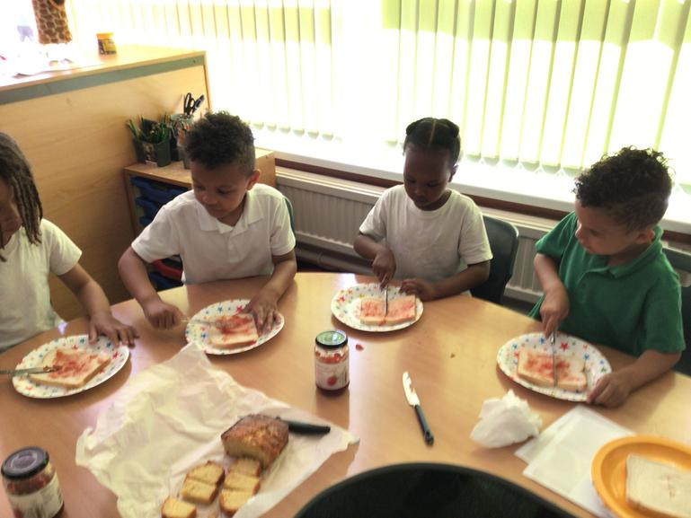 Year One chose and created their own sandwiches for our English Afternoon Tea!