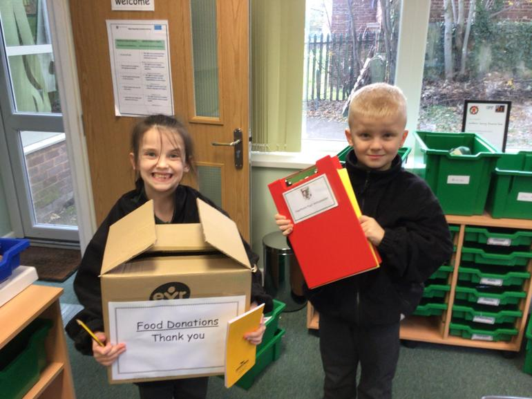 Each class will have a collection box.
