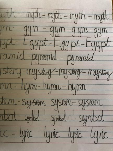Isha's lovely handwriting