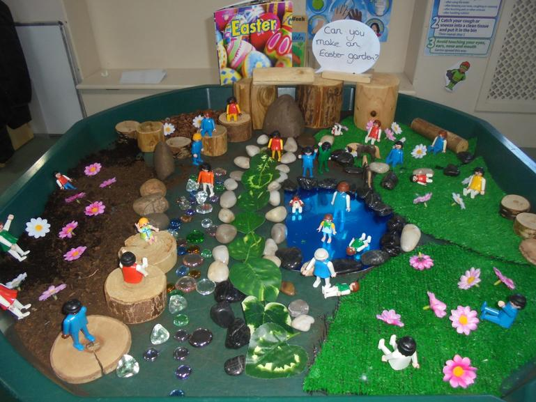 The Easter story and Easter garden