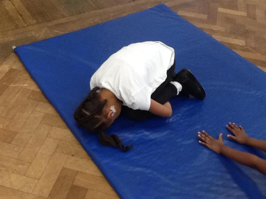 Tucking our bodies in tight!