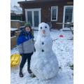 George's HUGE snowman