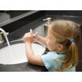 Practice hand washing and toileting skills