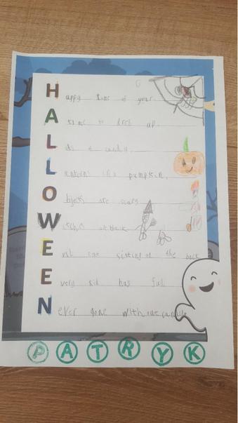 Patryk's Halloween acrostic poem