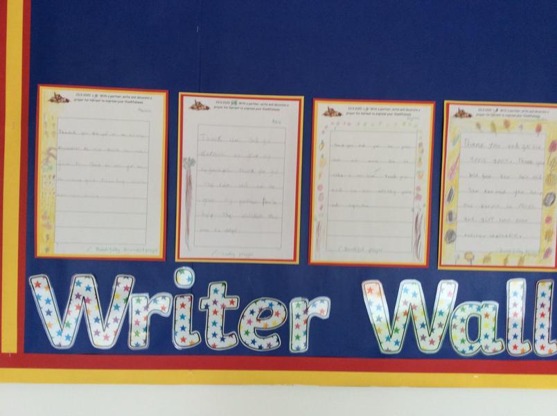 Star writer wall
