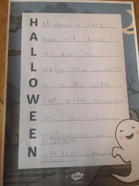 Harrison's spooky Halloween poem