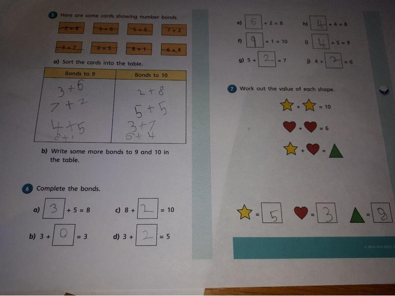 Oliver's maths - keep up the good work!