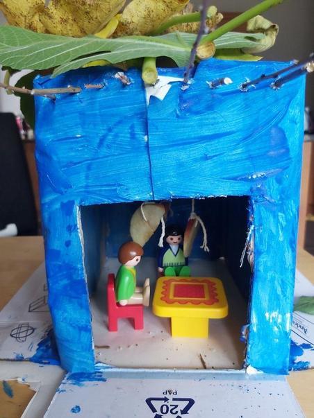 Thomas' amazing Sukkah hut.
