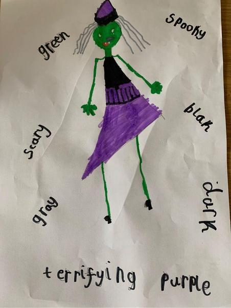 Ava's Super spooky Halloween costume advert.