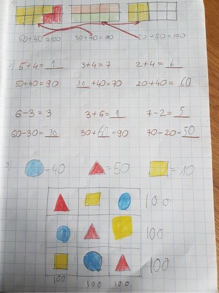Blanka's great maths work.
