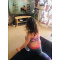Natalia keeping fit.