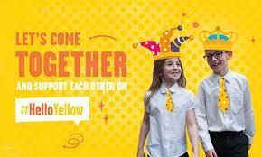 hello yellow logo lets come together