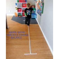 Using tape or scarves to create your own obstacle course!